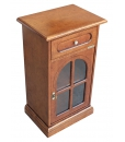 classic side cabinet, wooden cabinet, small cabinet, glass door cabinet, Arteferretto furniture, entryway furniture