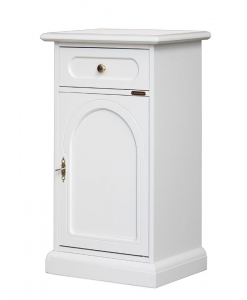 lacquered side cabinet in wood, wooden side cabinet, Arteferretto furniture, entryway cabinet