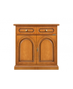 Arteferretto furniture, Arteferretto sideboard, classic cherry wood sideboard, wooden sideboard, classic sideboard, 2 door sideboard, 2 door 1 drawer sideboard, classic furniture, sideboard in classic style, sideboard in cherry wood, sideboard,