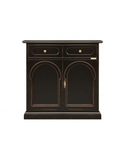 Black sideboard cabinet in wood