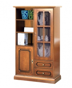 2-door display cabinet, display cabinet, wooden display cabinet, cabinet for living room, living room display cabinet
