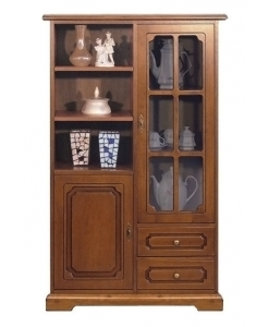 2-door display cabinet, display cabinet, wooden display cabinet, cabinet for living room, living room display cabinet