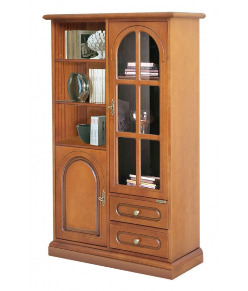 classic display cabinet, wooden cabinet, wooden display cabinet, display cabinet, living room furniture, display case, Item n° 3035-s