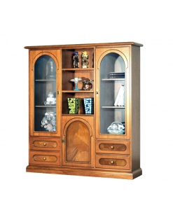 Display cabinet, classic display cabinet, cabinet with glass door, showcase cabinet, briar-root display cabinet, wooden display cabinet, living room furniture