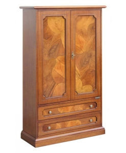 classic cabinet, wooden cabinet, cabinet with briar root insert, briar root cabinet, classic style, italian design, wooden furniture, living room cabinet, living room furniture