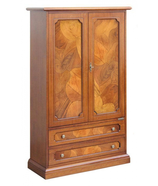 classic cabinet, wooden cabinet, cabinet with briar root insert, briar root cabinet, classic style, italian design, wooden furniture, living room cabinet, living room furniture, Sku. 3040-as