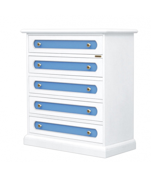 5-drawer chest 3045-blue_styl