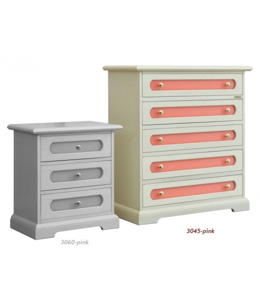 5-drawer chest for kid's bedroom. Product code: 3045-pink