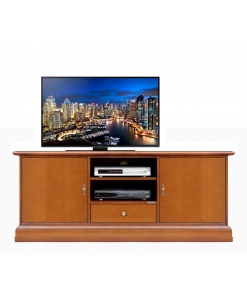 Smooth 2 door tv cabinet in wood