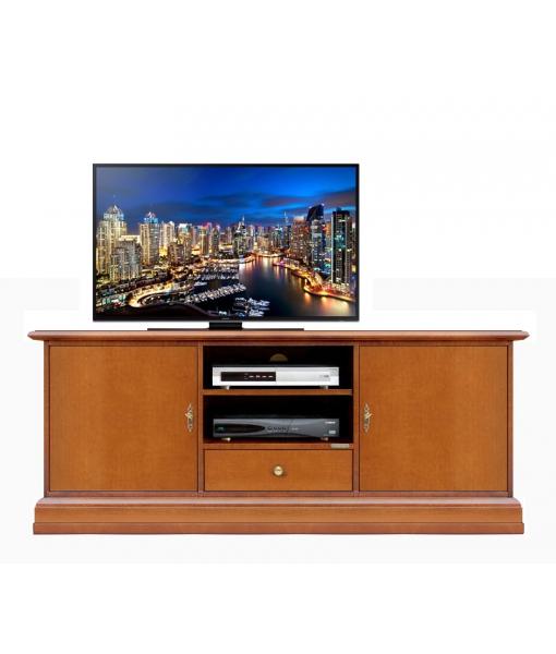 Smooth 2 door tv cabinet in wood, SKU: 3059-AP