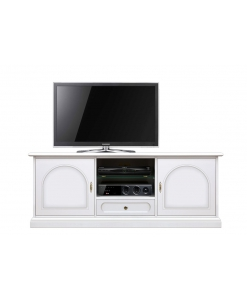low Tv entertainment unit, 150 cm Tv stand, wooden Tv cabinet, living room cabinet, TV unit in wood, White Tv cabinet, living room unit, classic style Tv cabinet, Arteferretto cabinet, Arteferretto Tv stand, Arteferretto furniture