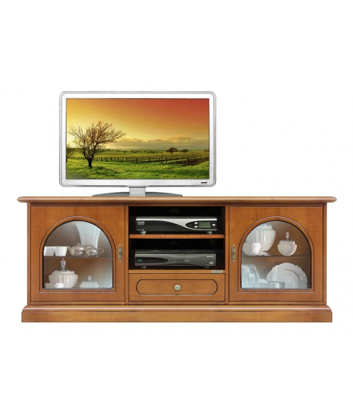 Tv cabinet with 2 glass doors. Product code: 3059-BV