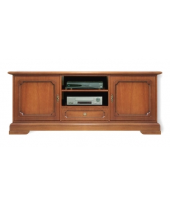 classic TV entertainment unit, wooden cabinet, Arteferretto furniture, Arteferretto TV cabinet, solid wood structure, TV unit, TV stand in wood, classic style TV unit