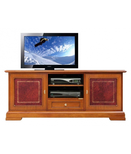 Wooden TV cabinet for living room with decorated doors. Sku 3059-ZRB