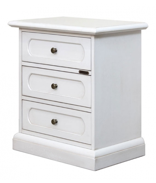 Laquered bedside table 3 drawers, SKU: 3060-BI