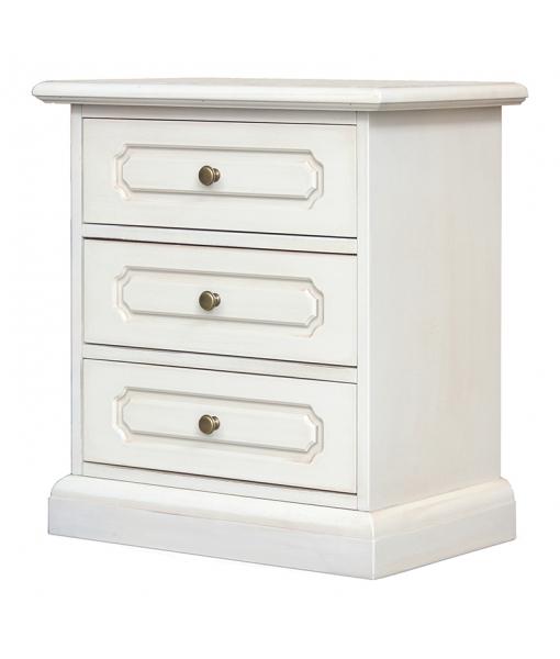 Lacquered 3 drawer nightstand, sku. 3060-SAV