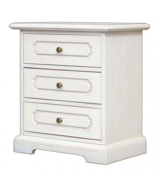Lacquered 3 drawer nightstand, sku. 3060-SAV
