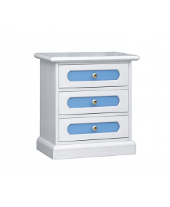 3-drawer nightstand, nightstand for kid's bedroom, coloured nightstand, bedside table, wooden bedside table