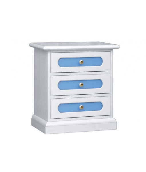 3-drawer nightstand. Product code: 3060-blue