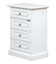 4 drawer bedside table, wooden bedside table, wooden nightstand, white chest of drawers, white small cabinet, white bedside table, wooden furniture, bedroom furniture, 4 drawer cabinet, lacquered wood cabinet