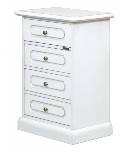 4 drawer  bedside table in lacquered wood. sku. 3064-SAV