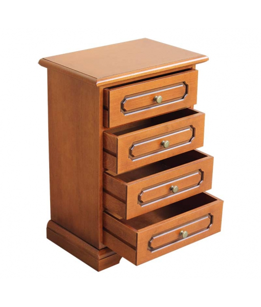 classic 4 drawer bedside table, bedside table, classic bedside table, bedroom furniture, chest of drawers, 4 drawer chest of drawers