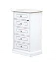 wooden chest of 5 drawers, wooden cabinet, storage cabinet, bedroom dresser, chest of drawers, Arteferretto furniture