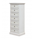 Lacquered chest of 7 drawers