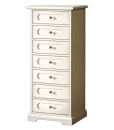 chest of drawers, Lacquered chest of 7 drawers, chest of drawers, bedroom furniture, wooden chest of drawers