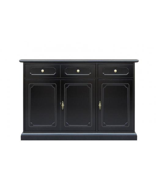 3 door black sideboard buffet, SKU: 3072-SPN