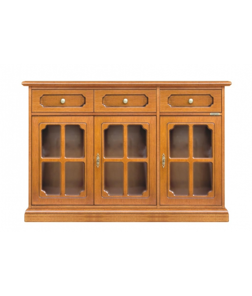 3 glass door cupboard. Sku 3073-L