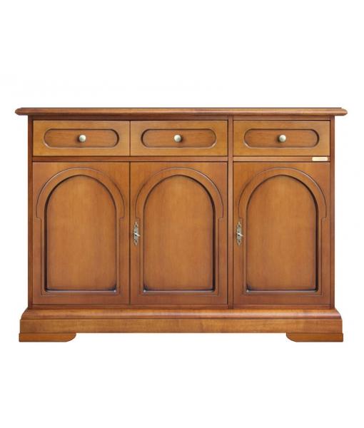 wooden sideboard buffet sku. 3076-BZ