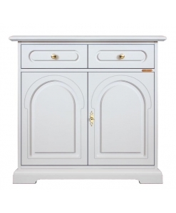 lacquered classic sideboard, sideboard, classic sideboard, white sideboard, living room furniture
