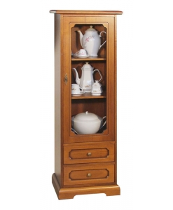 wood display cabinet, wooden cabinet, showcase, wooden furniture, classic display cabinet, living room display cabinet, classic style, Arteferretto