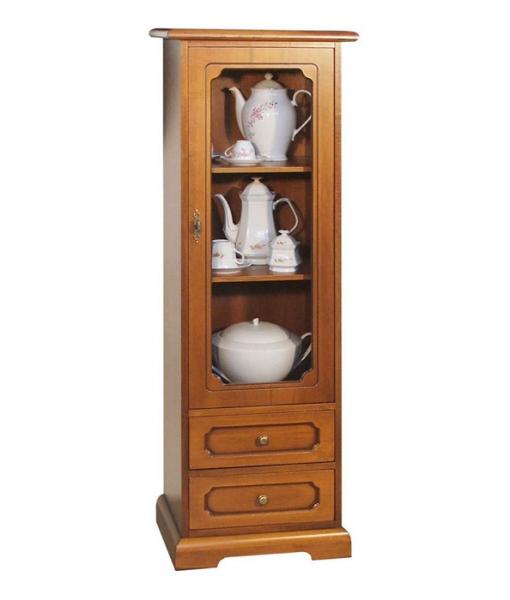 Wood display cabinet 1 door. Sku 3122-L