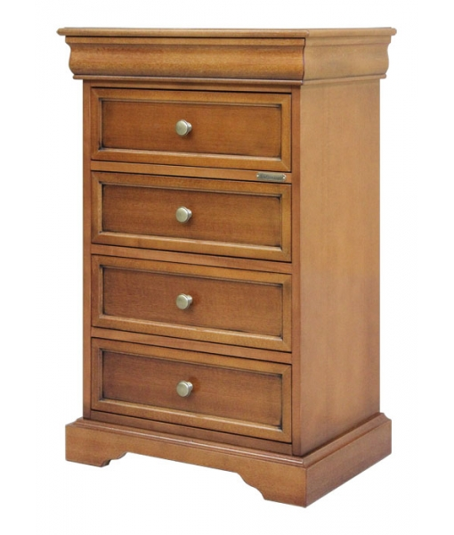 Wood chest of 5 drawers for bedroom. Sku 314