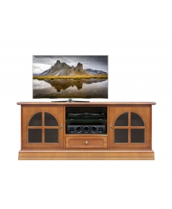classic tv unit, classic tv unit with 2 glass doors, classic style, italian design, tv cabinet, wooden tv cabinet, living-room furniture
