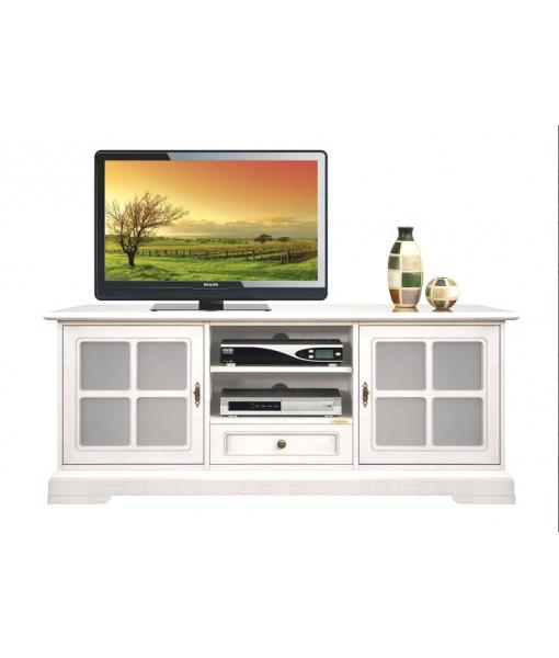 Living room display unit in wood. Sku 3159-QG-plus