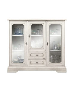 dining display cabinet, dining cabinet, white cabinet, white display cabinet, cabinet with glass door, living room furnishings, dining room display cabinet