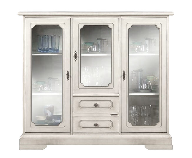 Wooden display cabinet white dining cabinet glass doors and drawers living room 8052740972293 for Glass door cabinets living room