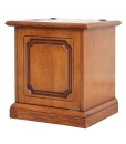 space saving storage chest, wooden storage chest, entryway furniture, box storage,