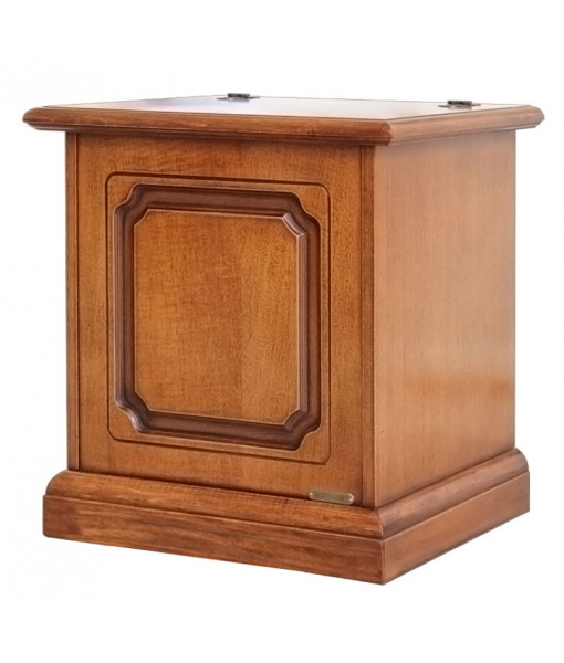 Space saving storage chest 50 cm in wood. Sku 31