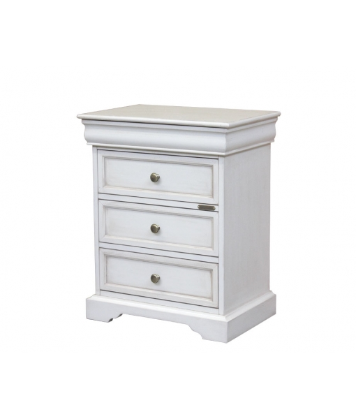 Louis Philippe bedside table 4 drawers, SKU: 323-BI