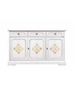 lacquered sideboard, classic sideboard, sideboard with gold details, sideboard, wooden sideboard, classic furniture