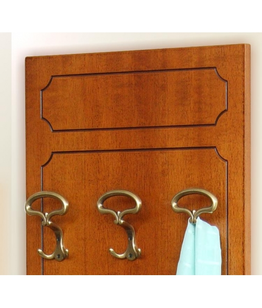 wooden entryway furniture set, hallway furniture, wall panel 3 hooks, small cabinet,