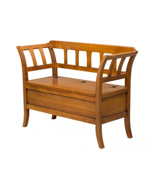Storage bench in solid wood. Sku 341-G