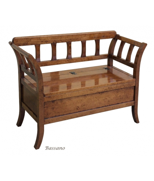 storage bench, wooden bench, flip top seat bench, save space bench in wood, wooden furniture, wooden bench in classic style, space saving bench
