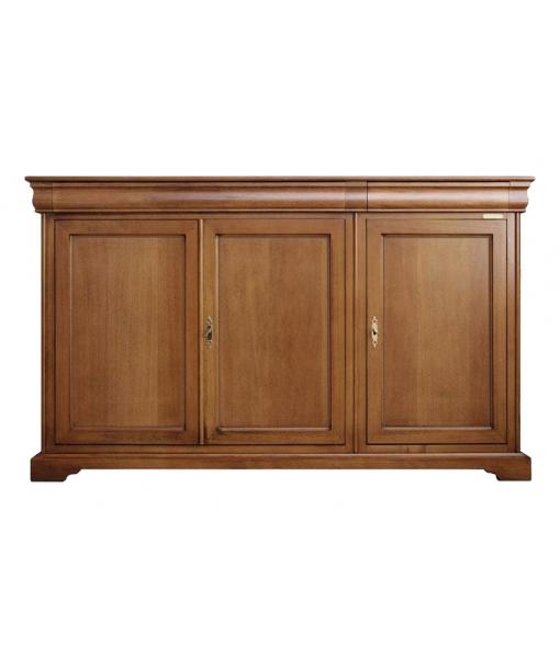 3 door sideboard, wooden sideboard, wooden furniture, classic sideboard, living room cabinet, classic cupboard in wood