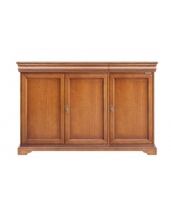 3 door sideboard, wooden sideboard, wooden furniture, classic sideboard, living room cabinet, classic cupboard in wood