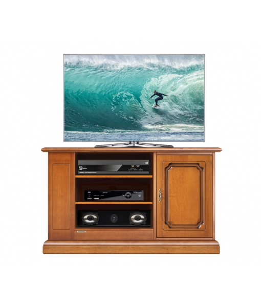 Wooden entretainment unit with side shelves. Sku 3650-s